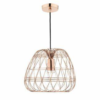 Lampa wisząca Woven - druciana, miedź