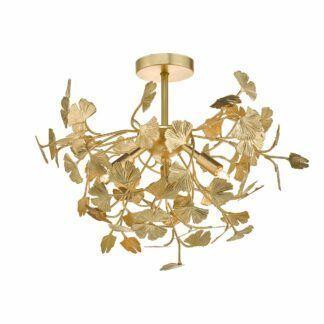 Lampa sufitowa Yadira - metalowa, złota