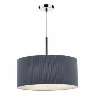 Szara lampa wisząca Zaragoza - mleczny dyfuzor, 60cm