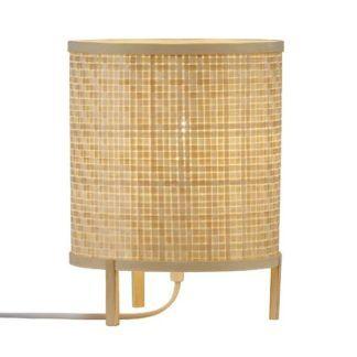Lampka nocna Trinidad - bambusowy klosz