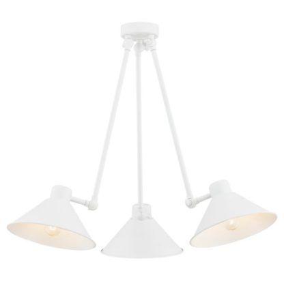 biała lampa sufitowa geometryczna