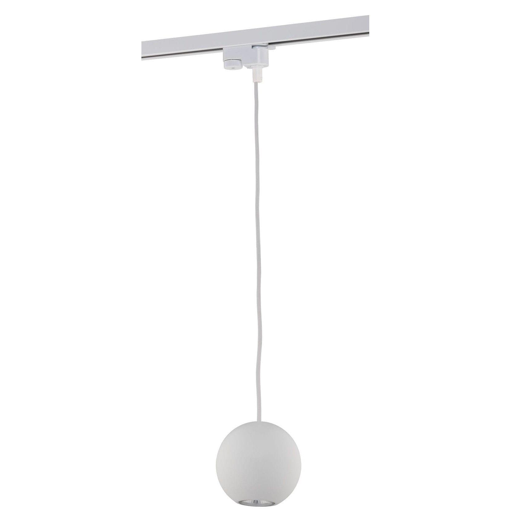 biała lampa w montażu szynowym