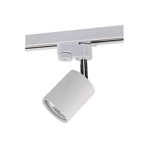 biały reflektor sufitowy system szynowy