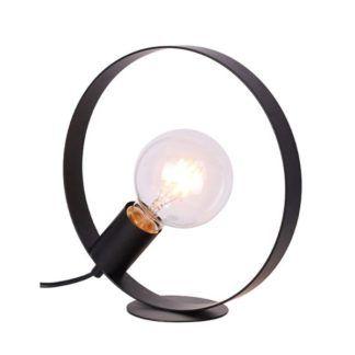 Czarna lamap biurkowa Nexo - metalowy okrąg