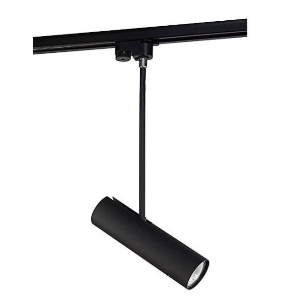 czarna lampa wisząca reflektor szynowy