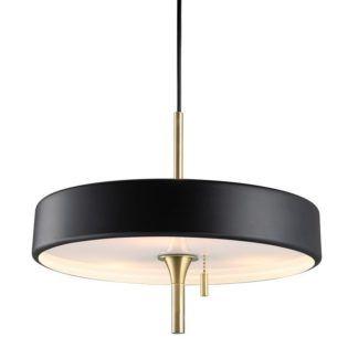 Elegancka lampa wisząca ArtDeco - czarna