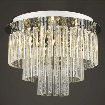 kaskadowa lampa sufitowa glamour