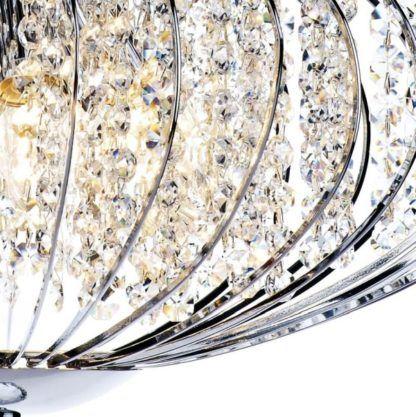 kryształowa lampa wisząca do salonu