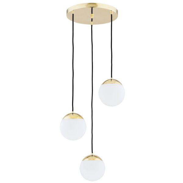 lampa wisząca złota szklane kule