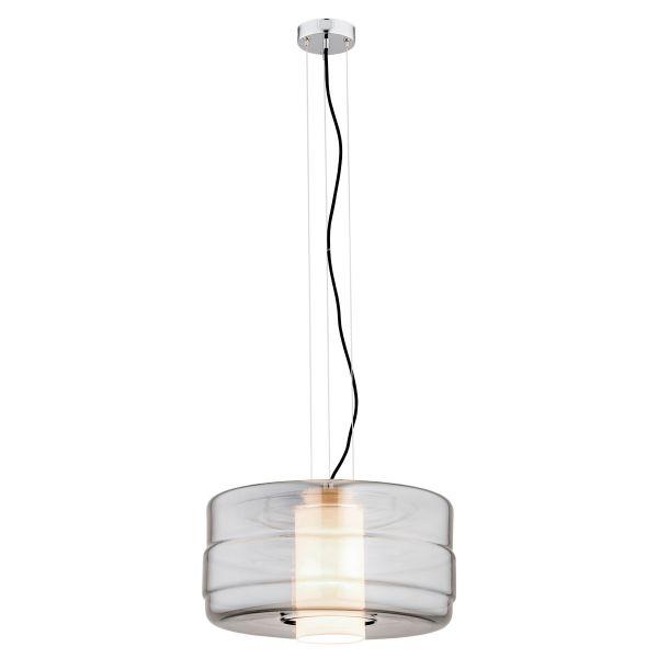 Szklana lampa wisząca Focus - szara