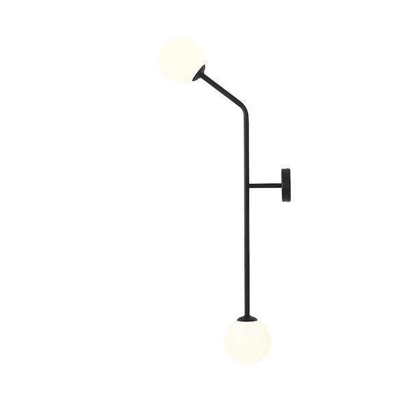 minimalistyczny kinkiet klosze kule do salonu