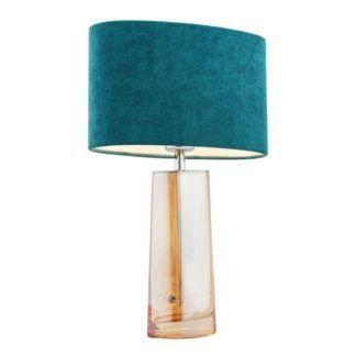 Lampa stołowa Prato - welurowy abażur