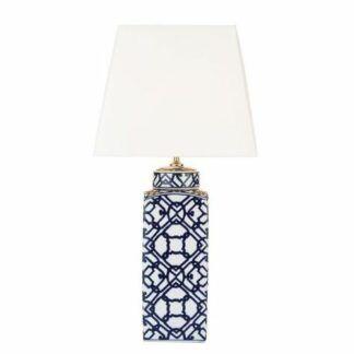 Lampa stołowa Mystic - geometryczny wzór, ceramika