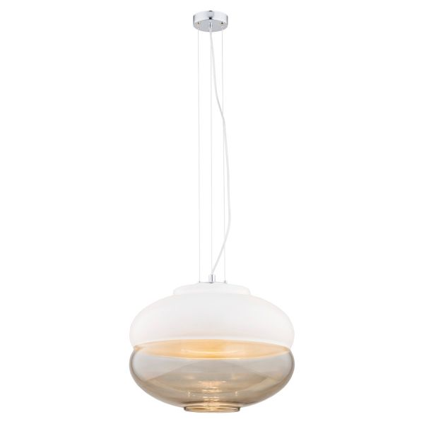 Efektowna lampa wisząca Focus - szklany klosz