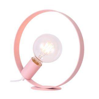 Metalowa lampa stołowa Nexo - różowa
