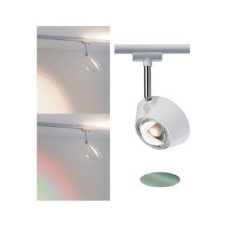 Nowoczesny reflektor Sabik - kolorowa soczewka, system szynowy URail
