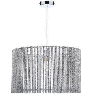 Duża lampa wisząca Nest - srebrna