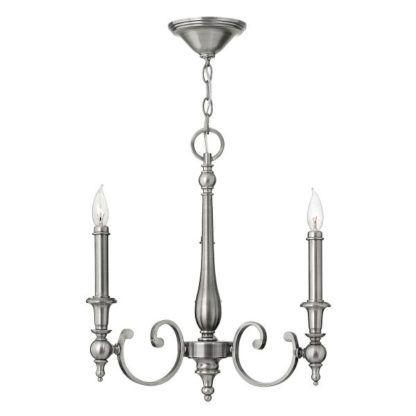 srebrny żyrandol klasyczny