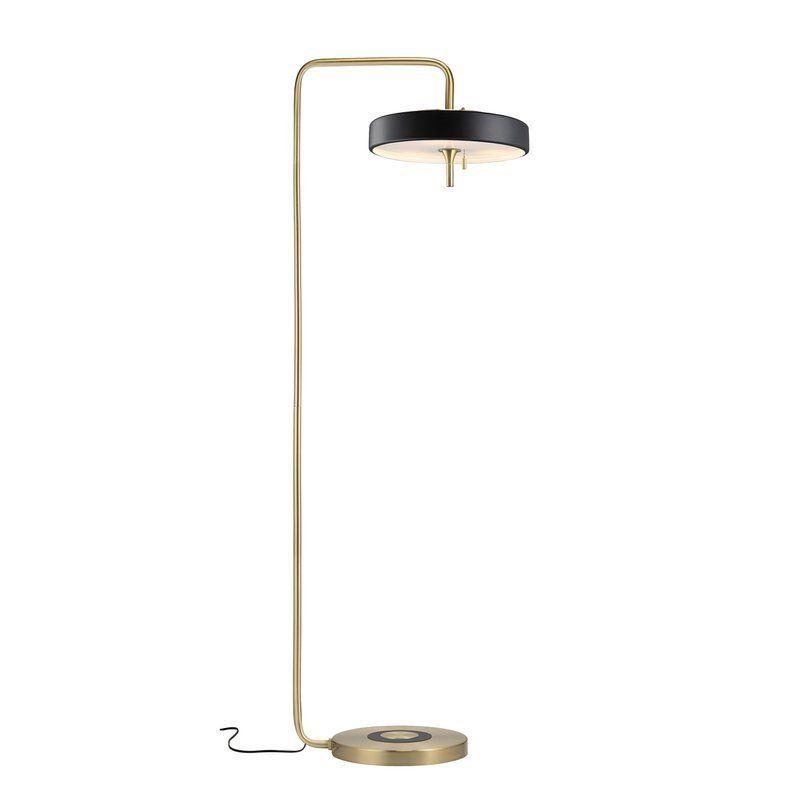 elegancka lampa podłogowa złota
