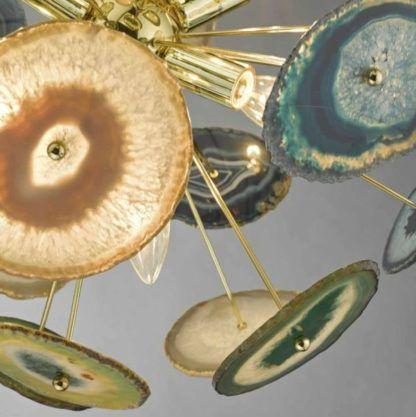 lampa wisząca z naturalnego agatu
