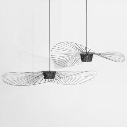asymetryczne lampy druciane do salonu