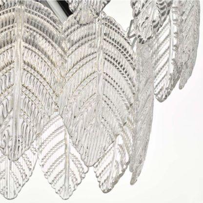szklane liście elegancki żyrandol