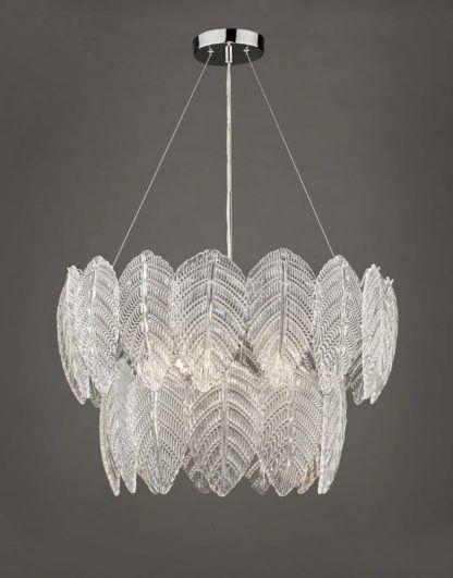 lampa wisząca szklane liście