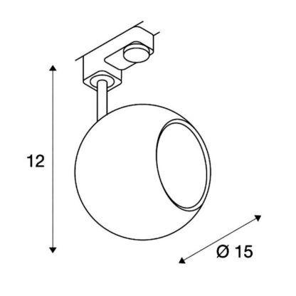 Lampa sufitowa Eye - biała, system szynowy Eutrac