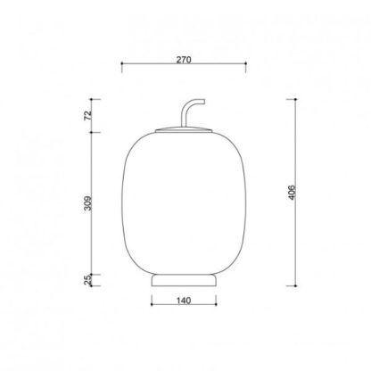 Lampa stołowa/podłogowa Epli ST - szklany klosz, czarna