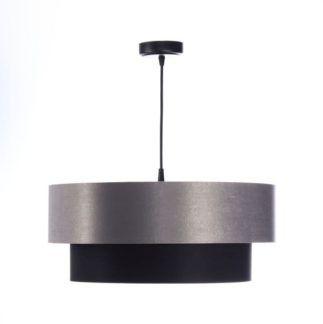 Lampa wisząca Duo - czerń i szarość, 50cm