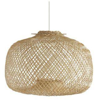 Lampa wisząca Panama - bambusowy klosz
