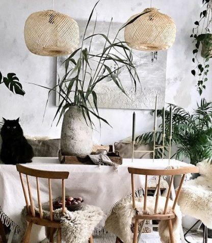 beżowa bambusowa lampa wisząca