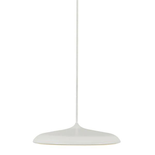 beżowa lampa wisząca z płaskim kloszem do kuchni