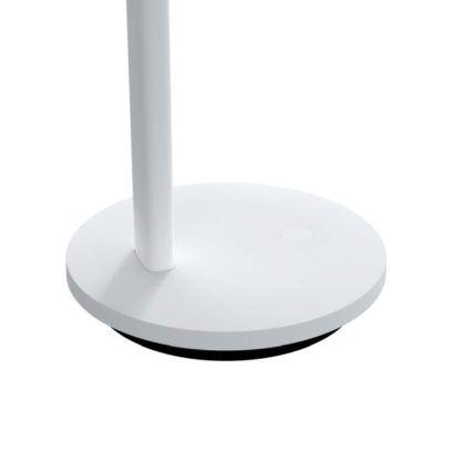 biała lampa biurkowa dotykowa