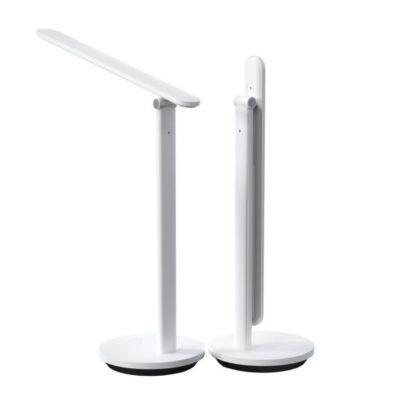 biała regulowana lampa na biurko nowoczesna