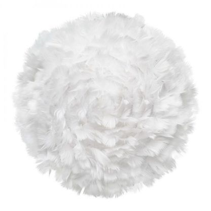 biały kinkiet z piór