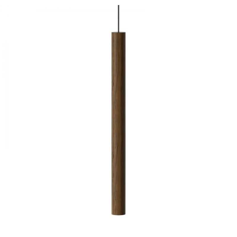 lampa wisząca drewniana tuba