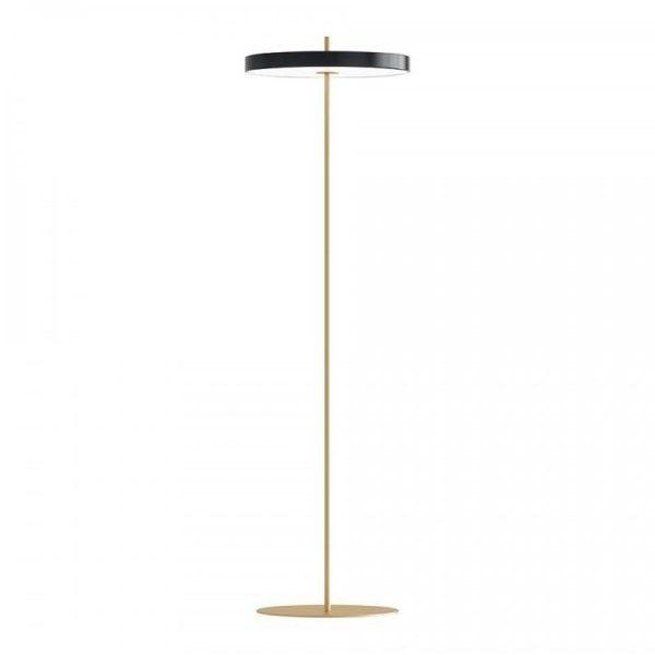 Lampa podłogowa Asteria - czarny klosz, LED