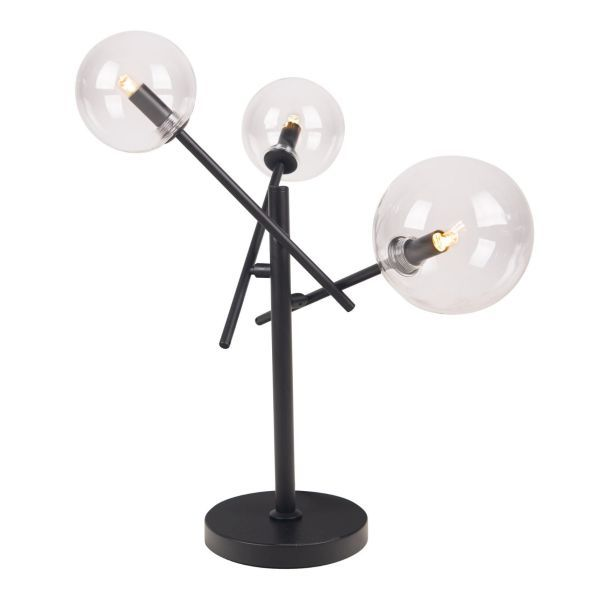 Lampa stołowa Lollipop - 3 kule, czarna