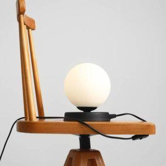 Lampa stołowa Ball - mała, czarna