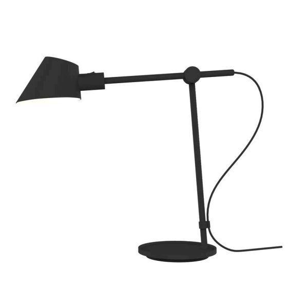 czarna lampa oświetlenie biurka