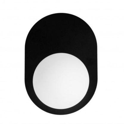 czarno-biały kinkiet do sypialni