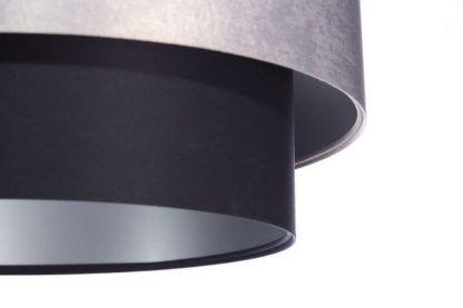czarno-szara lampa wisząca satynowa