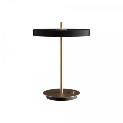 czarno-złota lampa stołowa led