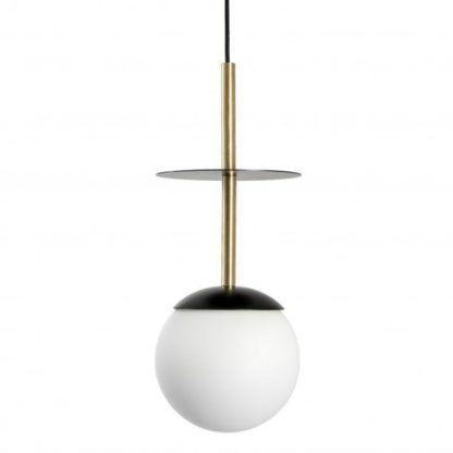 designerska lampa wisząca złota