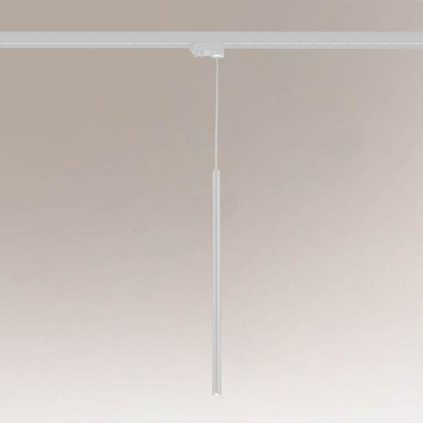 Lampa wisząca Kosame - biała, długi klosz, Profile Shilo