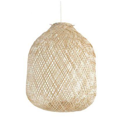 duża bambusowa lampa wisząca
