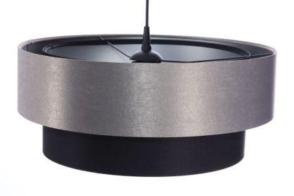 duża lampa wisząca ciemny abażur