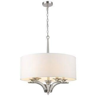 Stylowa lampa wisząca Atlanta - biały abażur
