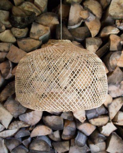 lampa wisząca boho bambusowa
